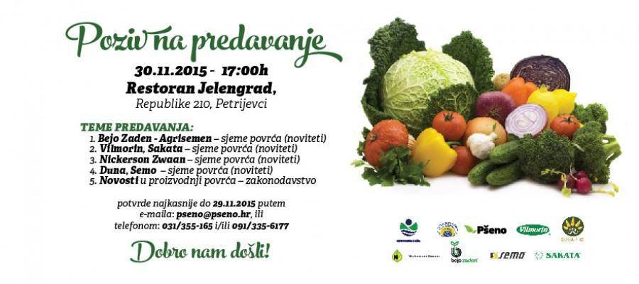 Poziv na stručno predavanje o uzgoju povrća – Bejo Zaden, Vilmorin, Sakata, Nickerson Zwaan, Duna, Semo, Pšeno